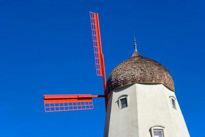 Vorgänger der heutigen Windkraftanlagen.
