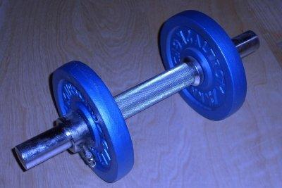 Kurzhantel eignen sich zum Aufbau von Oberarmmuskeln.
