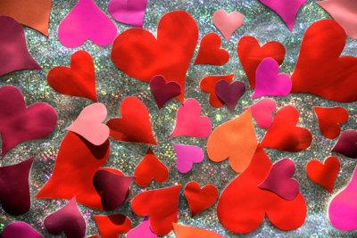 Verliebte Herzen am Valentinstag