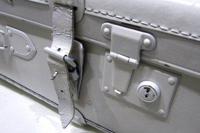Nehmen Sie einen TSA-Gepäckgurt und lassen das Schloss offen.
