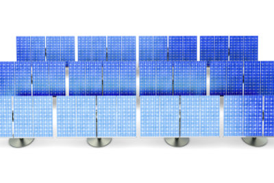Eine Solaranlage erzeugt Strom.