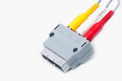 SCART kann in das Videosignal und die beiden Tonsignale aufgesplittet werden.