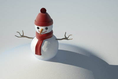 Gehen Sie doch einmal als Schneemann.