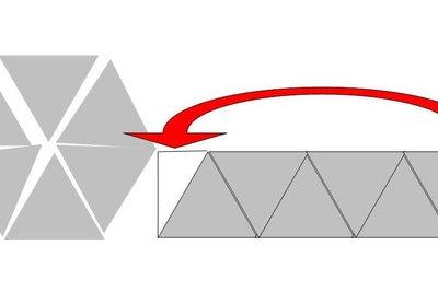 Skizze zur Erklärung des Flächeninhalts vom Sechseck