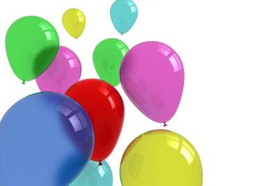Luftballons müssen Sie nicht mit dem Mund aufblasen.