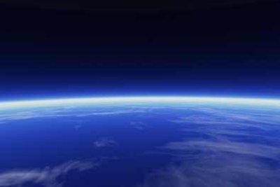 Dass die Erde rund ist, kann man vom Weltall aus gut beobachten.