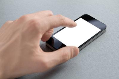 Ein Smartphone kann auch navigieren.