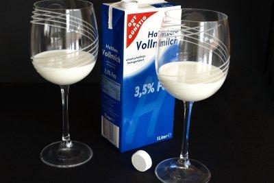 Milch in der Ernährung hemmt die Antbiotikawirkung..