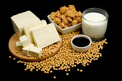Sojaprodukte sind gute pflanzliche Eiweißquellen.