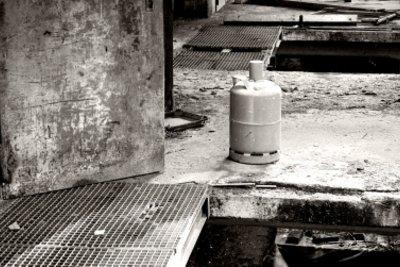 11-kg-Propangasflasche im Einsatz