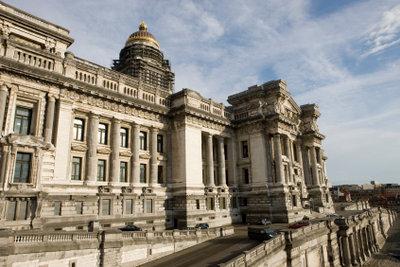 Justizpalast Brüssel im Baustil des Eklektizismus.