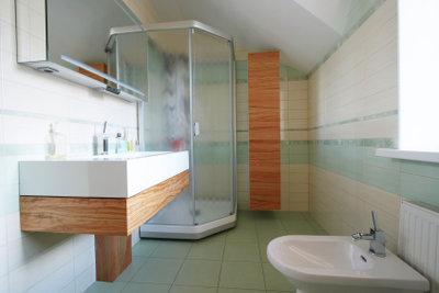 Duschen werden individuell eingebaut.