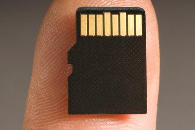 Auf einer Micro SD Karte lassen sich viele Spiele speichern!