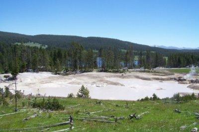 Der Mud Vulcano im Yellowstone-Nationalpark