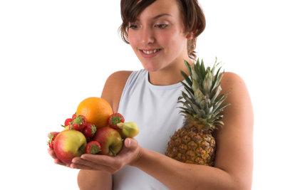 Ananas ist gesund und lecker.