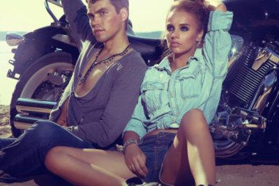 Bill Kaulitz' Style ist richtig rockig.