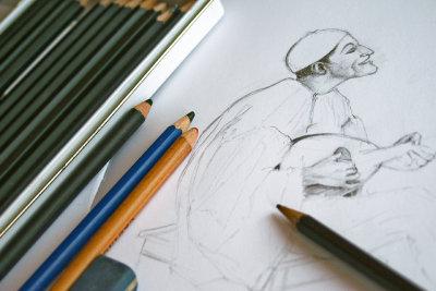 Portrait zeichnen gelingt mit viel Übung.