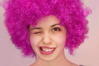 Auffällige Haarfarben sind immer ein Blickfang.