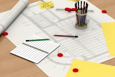 Kreativität und technisches Geschick sind im Beruf des Innenarchitekten wichtig.