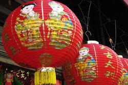 Chinesische Laternen einfach selber basteln