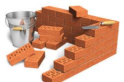 Solange die Mauersteine versetzt liegen, ist die Ecke nicht kompliziert.