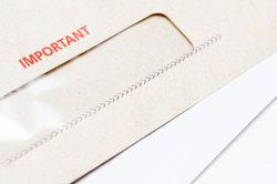 Wichtige Unterlagen werden immer per Einschreiben geschickt.