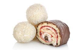 Mit Raffaello-Konfekt lassen sich tolle Kuchen und Desserts machen.