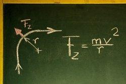 Die Formel für die Fliehkraft