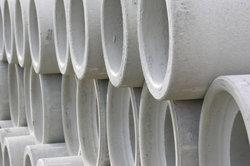 Wasserrohre müssen wasserundurchlässig sein, sind daher aus BU-Beton gefertigt.