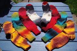 Socken zu stricken, geht schnell und macht Spaß.