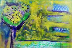 Hier treffen sich Expressionismus und abstrakte Kunst.