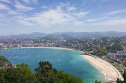 Blick auf San Sebastian im Baskenland.