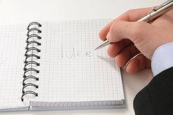 Formulieren Sie positive Gedanken schriftlich.