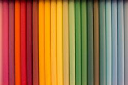 Designer benutzen Farbpaletten.