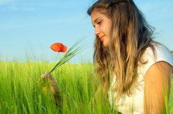 Mit Blumen kann man schöne Bilder gestalten.