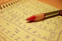 Erstellen Sie mithilfe Ihres Taschenrechners eine Wertetabelle für X.