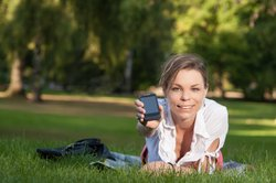 Auch mit dem Handy kann man chatten!