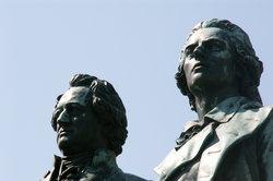 Auch Goethe und Schiller haben über das Dichten gedichtet