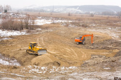 Baustellen sollen mithilfe der Winterbauförderung auch im Winter nicht zur Ruhe kommen.