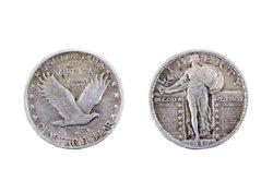 Ein Vierteldollar ist eine der gängigen Münzen der USA.