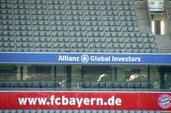 Fan-Artikel von Bayern München gibt's auch in der Allianz-Arena.