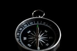 Ein simpler Magnetkompass, wie er weltweit erhältlich ist.