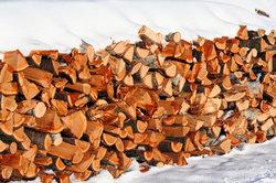 Brennholz sollten Sie trocken lagern.
