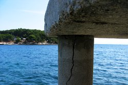 So blau ist das Meer überall in Kroatien.