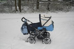 Auch Kinderwagen sind im Gesslein Werksverkauf erhältlich.