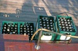 Getränkekisten nehmen grundsätzlich viel Platz ein.