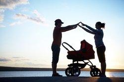 Ein Jogger kann Babys und Kleinkinder transportieren.