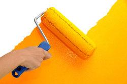 Feste Farbe erleichtert das Malern.