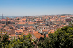 Blick auf die portugiesische Hauptstadt Lissabon