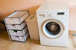 Der Waschvollautomat benötigt viel Stellfläche.